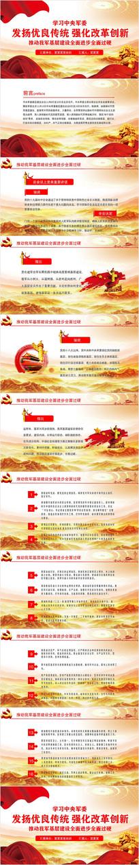 中央军委基层建设会议PPT