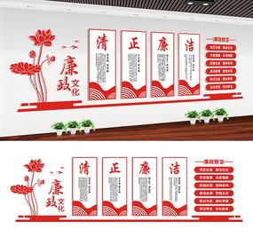 党风廉政机关走廊文化墙设计