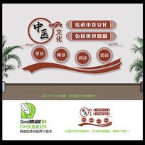 创新简单中式传承中医文化墙设计