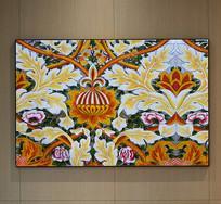 纯手绘欧式花纹油画艺术壁画
