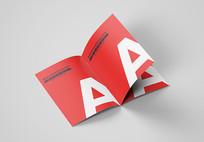 A4A3A5宣传画册样机宣传册立体图