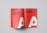 A4A3A5宣传画册样机宣传册模版