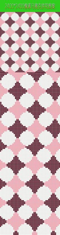 粉白色马赛克拼花图案贴图