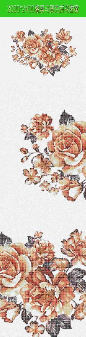 花朵马赛克拼花图案