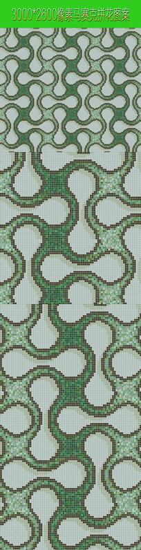 绿色拼花图案素材贴图