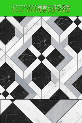 水刀拼化黑白石材图案图片