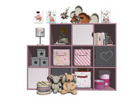 现代实木儿童柜 收纳柜 装饰柜