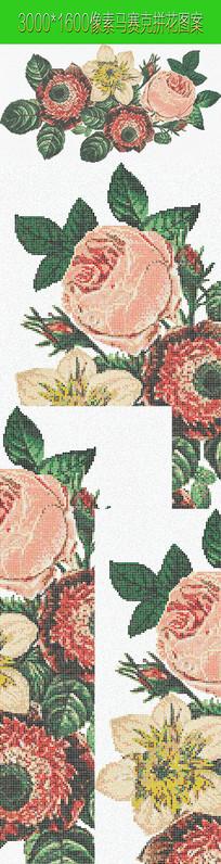 艺术花朵马赛克拼花图案