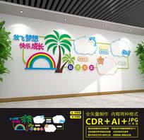 幼儿园卡通背景文化墙