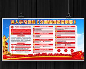 大气交通强国建设纲要宣传展板