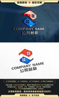 房产中介家居物业标志LOGO设计