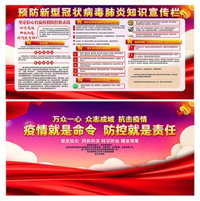 抗击预防新型冠状病毒肺炎宣传栏