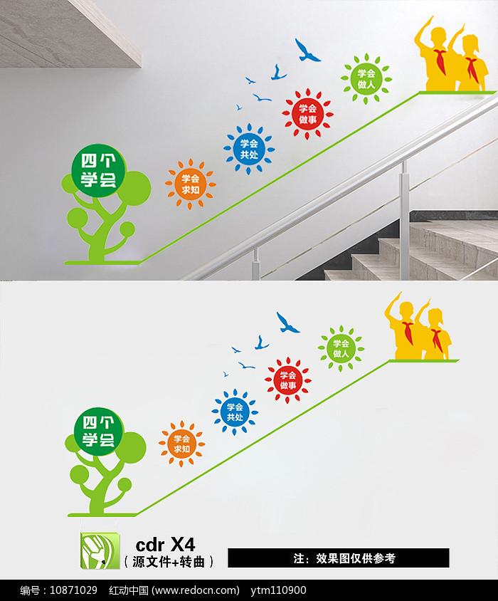 励志楼梯文化墙图片