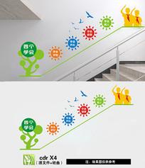 励志楼梯文化墙