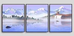 瀑布湖泊室内装饰画