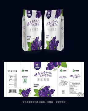 葡萄干果脯食品包装袋设计