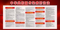 中华共和国传染病防治法展板