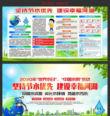 2020年世界水日中国水周看板