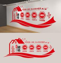 党建民族团结文化墙展板走廊宣传红色文化墙