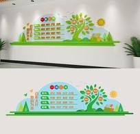 清新创意校园文化墙一训三风学校标语形象墙
