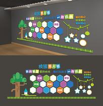校园照片墙文化墙展示形象墙走廊文化