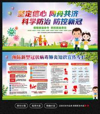 新型冠状病毒肺炎预防疾病知识宣传栏