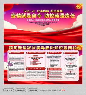 新型冠状病毒肺炎预防宣传展板
