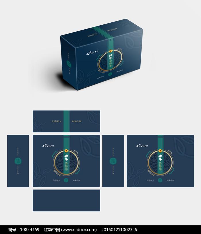 新中式简约高档茶包装礼盒图片