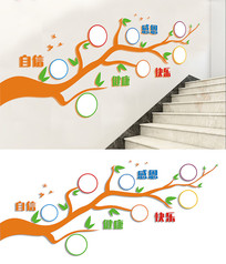 幼儿园学校楼梯文化墙