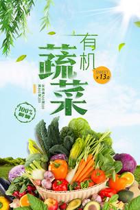 有机蔬菜农场海报模板