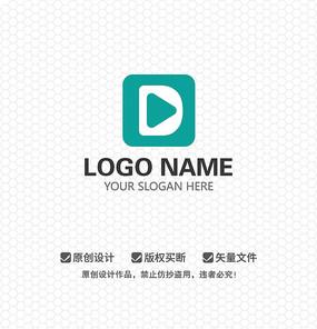 D字母影视视频LOGO设计