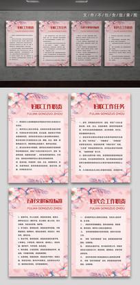 粉色妇联社区职责制度展板