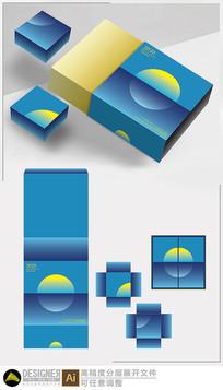 月饼礼盒包装设计展开图