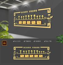 简约企业荣誉墙奖杯证书展厅文化墙