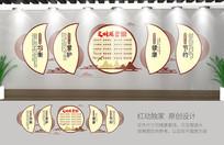 文明用餐食堂文化墙模板设计