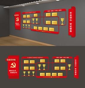 优秀党员风彩墙党建荣誉墙党员活动室