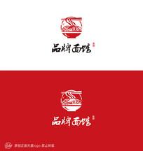 中国风面馆logo标志设计