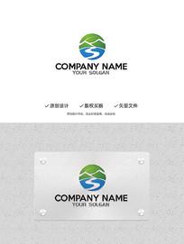 创意S字母造型环保风景旅游企业标志