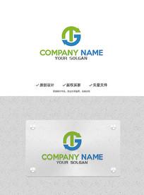 创意TG字母造型设计企业标志