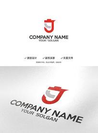 创意YJ字母设计企业标志