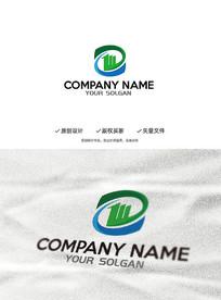 创意Z字母数字1建筑企业标志