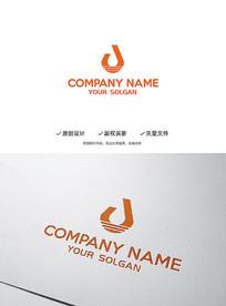 创意灯饰字母J造型企业标志