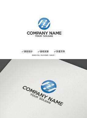 创意简约RY字母造型设计企业logo