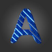 炫酷晶石字母A