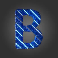 炫酷晶石字母B