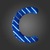 炫酷晶石字母C
