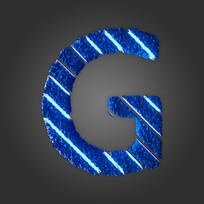 炫酷晶石字母G