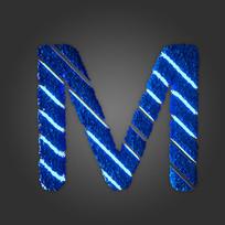炫酷晶石字母M