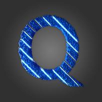 炫酷晶石字母Q