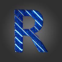 炫酷晶石字母R